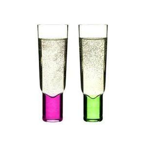 Sagaform Club samppanjalasit 2 kpl pinkki ja vihreä
