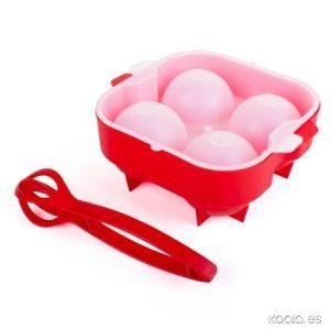 XXL Ice Ball & Tulip-pihdit cocktailsetti punainen